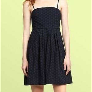 EUC Gap Navy Lace Eyelet Strapless Dress